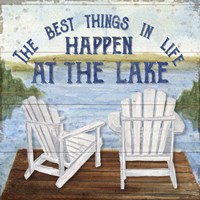 Lake Living I (best things) Framed Print