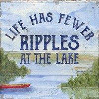 Lake Living IV (ripples) Fine Art Print