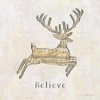 Vintage Christmas Believe Fine Art Print