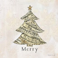 Vintage Christmas Merry Fine Art Print