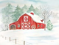 Winter Farmhouse Fine Art Print