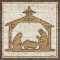 Rustic Nativity Framed Print