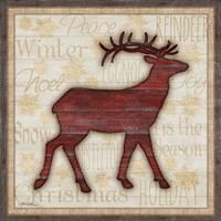 Rustic Reindeer Framed Print