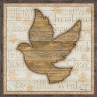 Rustic Peace Dove Framed Print