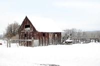 Winter Barn Landscape Fine Art Print