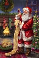 Santa with his list Fine Art Print