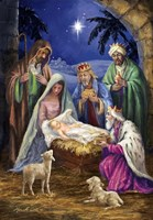 Holy Family with 3 Kings Fine Art Print