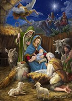 Mary and the Shepards Fine Art Print