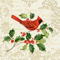 Botanical Christmas Cream I Fine Art Print