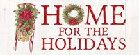 Home for the Holidays Sled Sign Fine Art Print