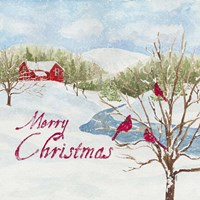 Christmas in the Country IV Merry Christmas Fine Art Print
