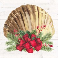 Christmas by the Sea Scallop square Fine Art Print