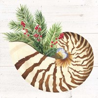 Christmas by the Sea Nautilus square Fine Art Print