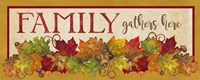 Fall Harvest Family Gathers Here sign Fine Art Print