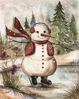 Country Snowman III Fine Art Print