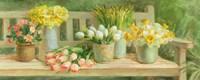 Spring Garden Bench Fine Art Print