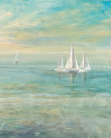 Sunrise Sailboats II Fine Art Print