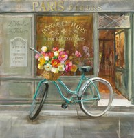 French Flowershop Fine Art Print