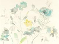 Aqua Roses Fine Art Print