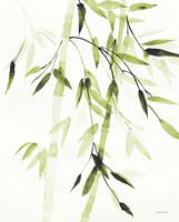 Bamboo Leaves V Green Fine Art Print
