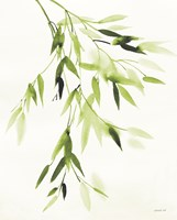 Bamboo Leaves IV Green Fine Art Print