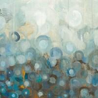 Blue and Bronze Dots VIII Fine Art Print