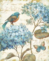 Blue Garden II Framed Print