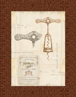 Fancy Corkscrew II Border Fine Art Print