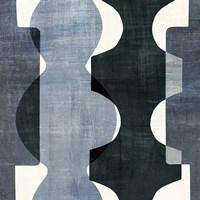 Geometric Deco I BW Framed Print