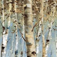 White Forest III Framed Print
