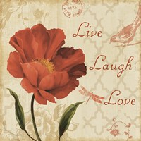 Live Laugh Love Sq Framed Print