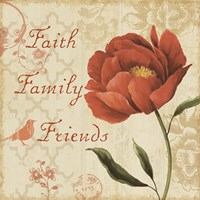 Faith Family Friends Sq Fine Art Print