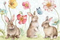 Spring Softies Bunnies I Framed Print