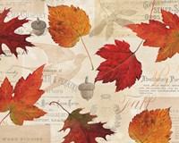 Fall in Love - Autumn Leaves Fine Art Print
