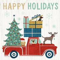 Holiday on Wheels III Fine Art Print
