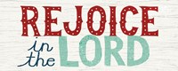 Holiday on Wheels Rejoice in the Lord Fine Art Print