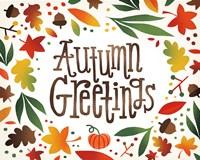 Harvest Time Autumn Greetings Fine Art Print