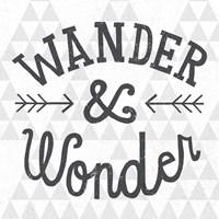 Mod Triangles Wander and Wonder Framed Print