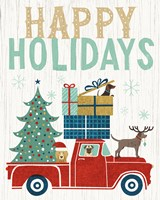 Holiday on Wheels III v2 Fine Art Print