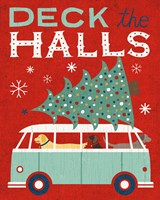Holiday on Wheels Red IV Fine Art Print