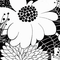 Feeling Groovy I Black and White Framed Print