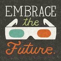 Retro Desktop 3D Glasses Framed Print