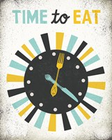 Retro Diner Time to Eat Clock Fine Art Print