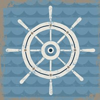 Nautical Helm Fine Art Print