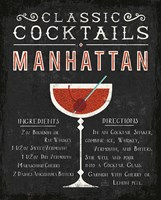 Classic Cocktail Manhattan Fine Art Print