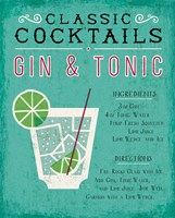 Classic Cocktail Gin and Tonic Fine Art Print