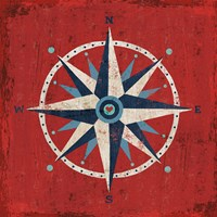 Nautical Love Compass Fine Art Print