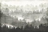 Mountainscape Silver Fine Art Print