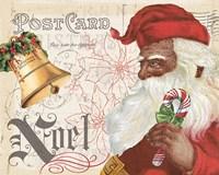 Antique Holiday II Santa Fine Art Print