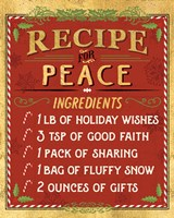 Holiday Recipe II Gold and Red Fine Art Print